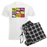Food Truck Pop Art Men's Light Pajamas