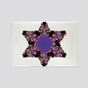 Flower Star Purple BG Rectangle Magnet