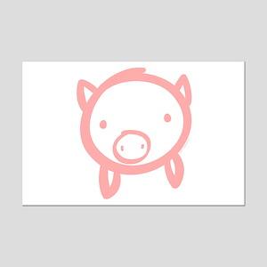 Pig Doodle Mini Poster Print