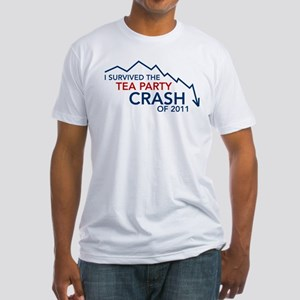 Tea Party Crash Fitted T-Shirt