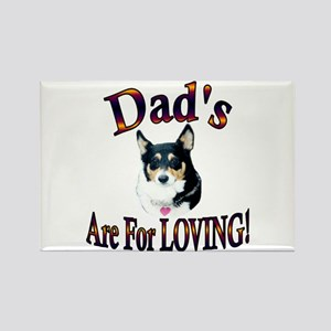 Dad's Are For Loving- Mist Rectangle Magnet