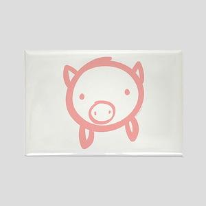 Pig Doodle Rectangle Magnet