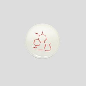 Rohypnol Molecule Mini Button