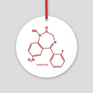 Rohypnol Molecule Ornament (Round)