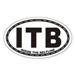 Inside The Beltline Itb Euro Oval Sticker