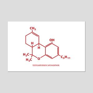 THC Molecule Mini Poster Print