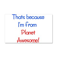 Planet Awesome Car Magnet 20 x 12