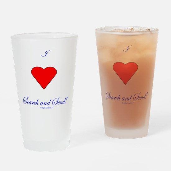 Love Search Send Drinking Glass