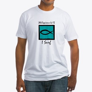 The Christian Surfer Fitted T-Shirt