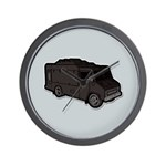 Food Truck: Basic (Black) Wall Clock