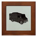 Food Truck: Basic (Black) Framed Tile
