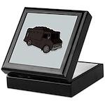 Food Truck: Basic (Black) Keepsake Box