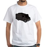 Food Truck: Basic (Black) White T-Shirt