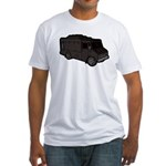 Food Truck: Basic (Black) Fitted T-Shirt
