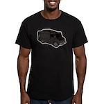 Food Truck: Basic (Black) Men's Fitted T-Shirt (da