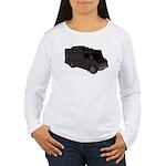 Food Truck: Basic (Black) Women's Long Sleeve T-Sh