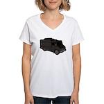 Food Truck: Basic (Black) Women's V-Neck T-Shirt