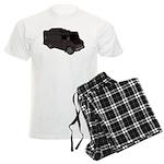 Food Truck: Basic (Black) Men's Light Pajamas