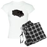 Food Truck: Basic (Black) Women's Light Pajamas