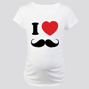 I love moustache Maternity T-Shirt