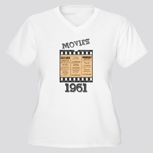 1961 Movies Women's Plus Size V-Neck T-Shirt