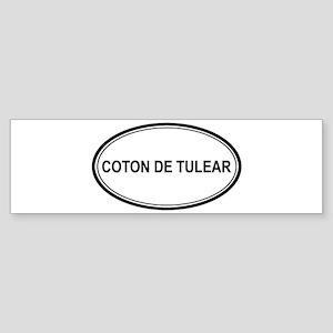 Coton De Tulear Euro Bumper Sticker
