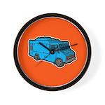 Food Truck: Basic (Blue) Wall Clock