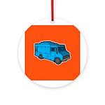 Food Truck: Basic (Blue) Ornament (Round)