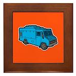 Food Truck: Basic (Blue) Framed Tile