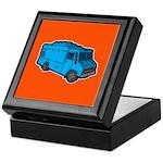 Food Truck: Basic (Blue) Keepsake Box