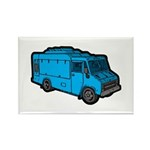Food Truck: Basic (Blue) Rectangle Magnet (100 pac