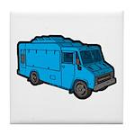 Food Truck: Basic (Blue) Tile Coaster