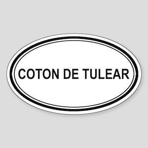 Coton De Tulear Euro Oval Sticker