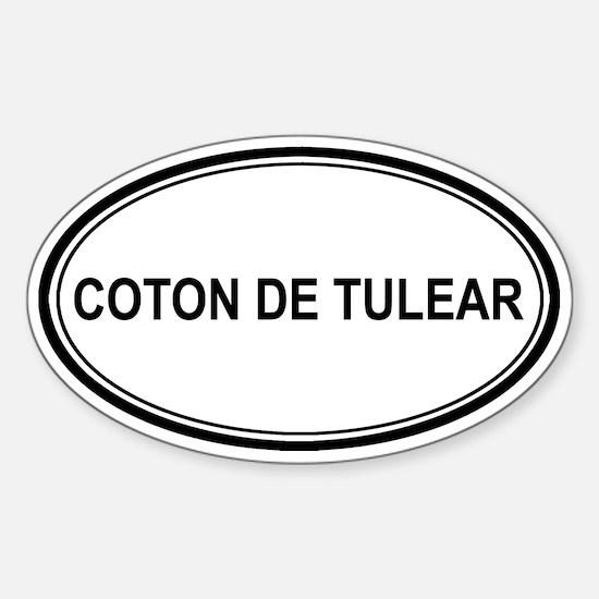 Coton De Tulear Euro Oval Decal