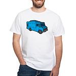 Food Truck: Basic (Blue) White T-Shirt
