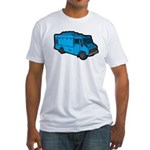Food Truck: Basic (Blue) Fitted T-Shirt