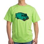 Food Truck: Basic (Blue) Green T-Shirt