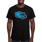 Food Truck: Basic (Blue) Men's Fitted T-Shirt (dar