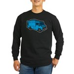 Food Truck: Basic (Blue) Long Sleeve Dark T-Shirt