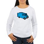 Food Truck: Basic (Blue) Women's Long Sleeve T-Shi