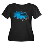 Food Truck: Basic (Blue) Women's Plus Size Scoop N