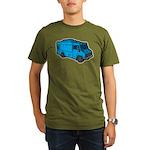 Food Truck: Basic (Blue) Organic Men's T-Shirt (da