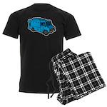 Food Truck: Basic (Blue) Men's Dark Pajamas