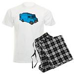 Food Truck: Basic (Blue) Men's Light Pajamas