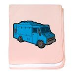 Food Truck: Basic (Blue) baby blanket