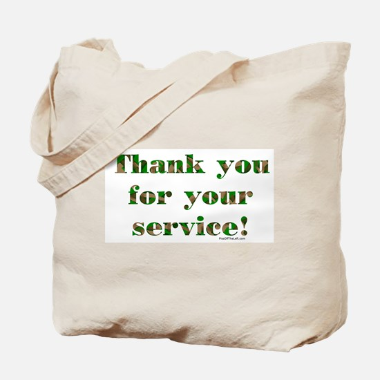 Camo Armed Forces Thank You Tote Bag