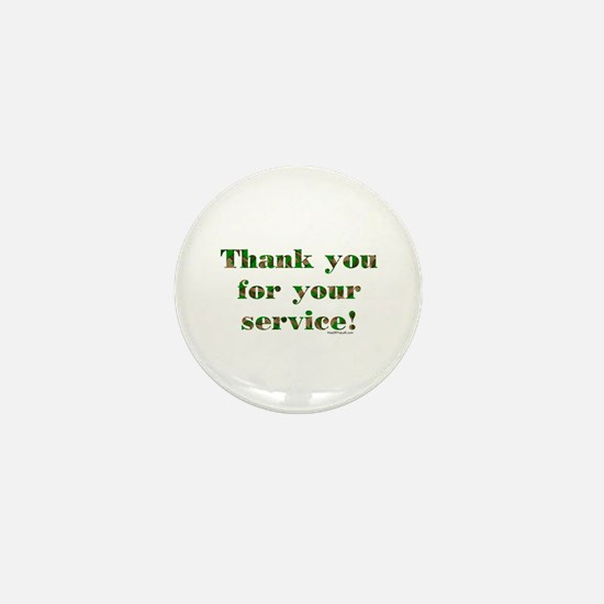 Camo Armed Forces Thank You Mini Button