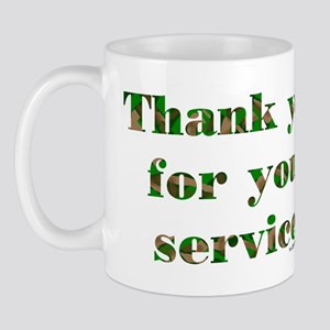 Camo Armed Forces Thank You Mug