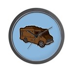 Food Truck: Basic (Brown) Wall Clock