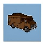 Food Truck: Basic (Brown) Tile Coaster